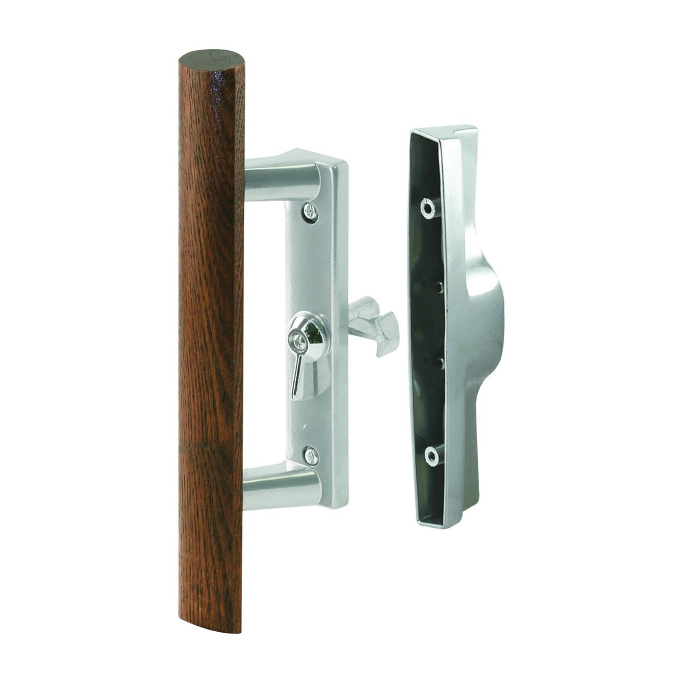 Picture of Prime-Line C 1018 Handle Set, Aluminum, Aluminum, 1 in Thick Door