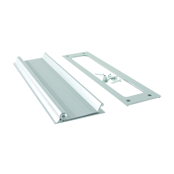 Picture of M-D 28472 Mail Drop Slot, 10 in L, 2-1/2 in H, Aluminum, Satin, Silver