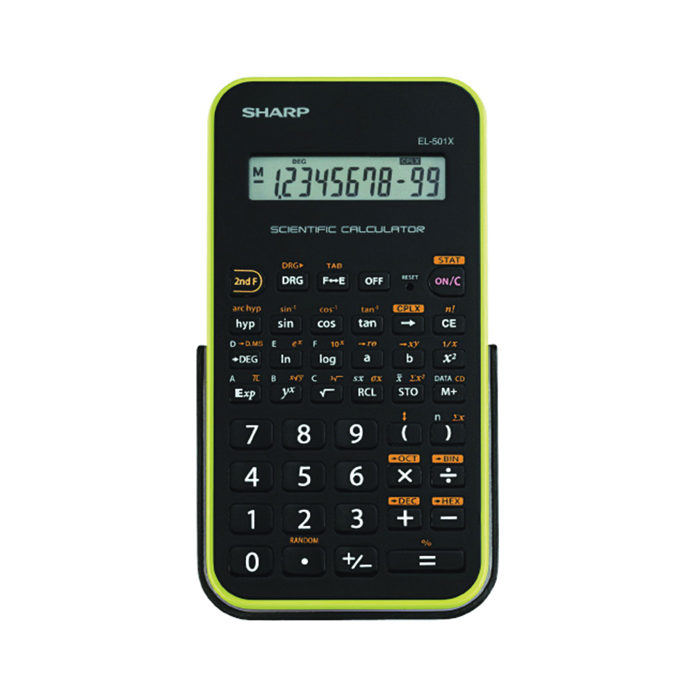 Picture of Sharp EL501XBGR Scientific Calculator, Battery, 10 Display, LCD Display, Black/Green