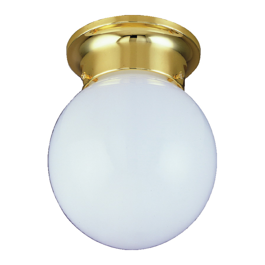 Picture of Boston Harbor F3BB01-33753L Ceiling Light Fixture, 1-Lamp, CFL Lamp, Polished Brass Fixture