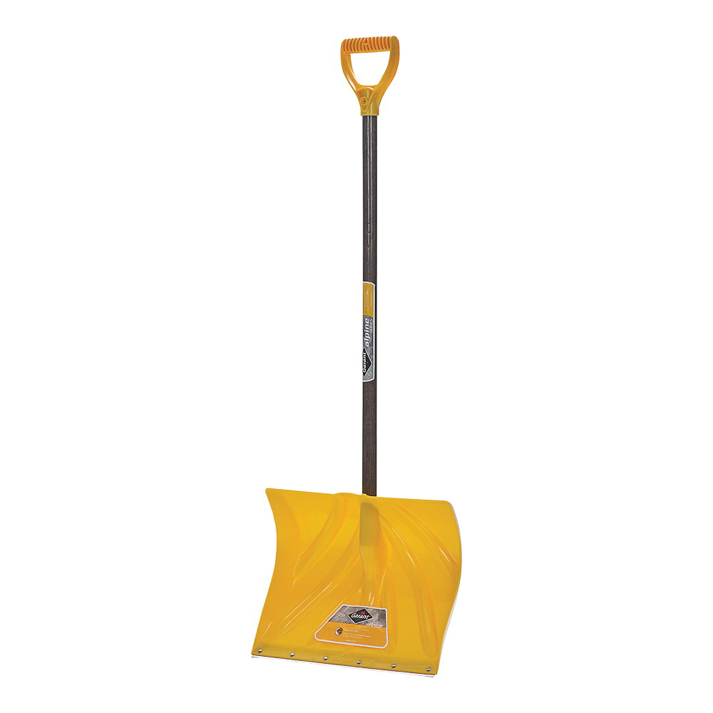 Picture of GARANT APM18KDRU Snow Shovel, 18 in W Blade, 13-1/2 in L Blade, Polyethylene Blade, Wood Handle, 51 in OAL