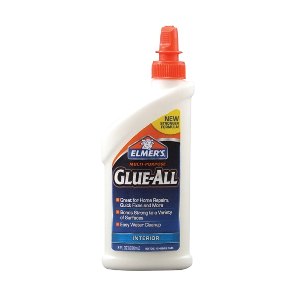 Picture of Elmers E3820 Glue, White, 8 oz Package, Bottle