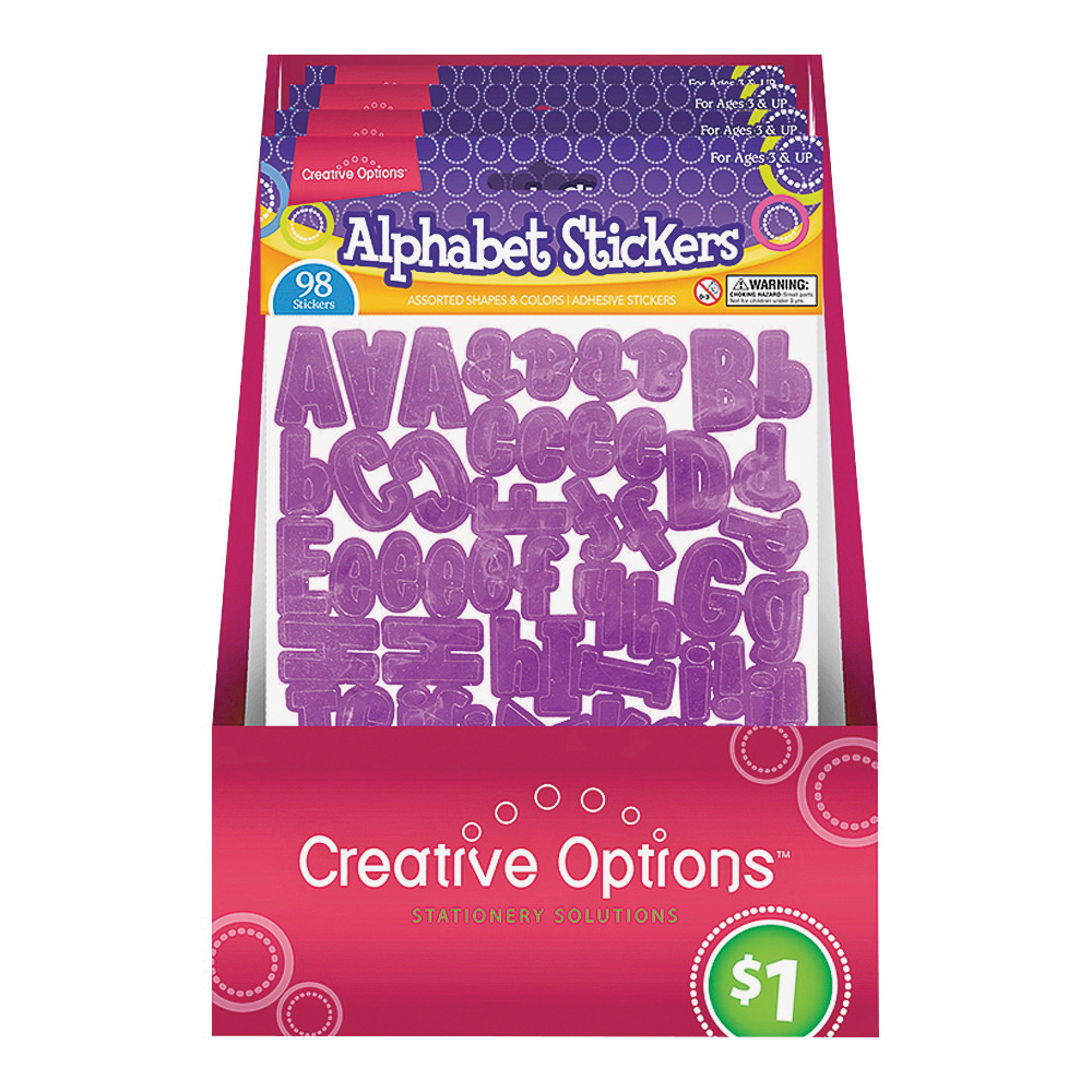 Picture of FLP 9906 Alphabet Stickers, Assorted
