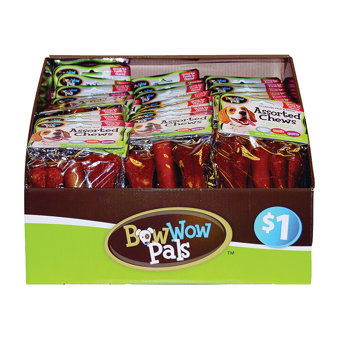 Picture of Bow Wow Pals 8825 Pet Bone Chew, 5 in