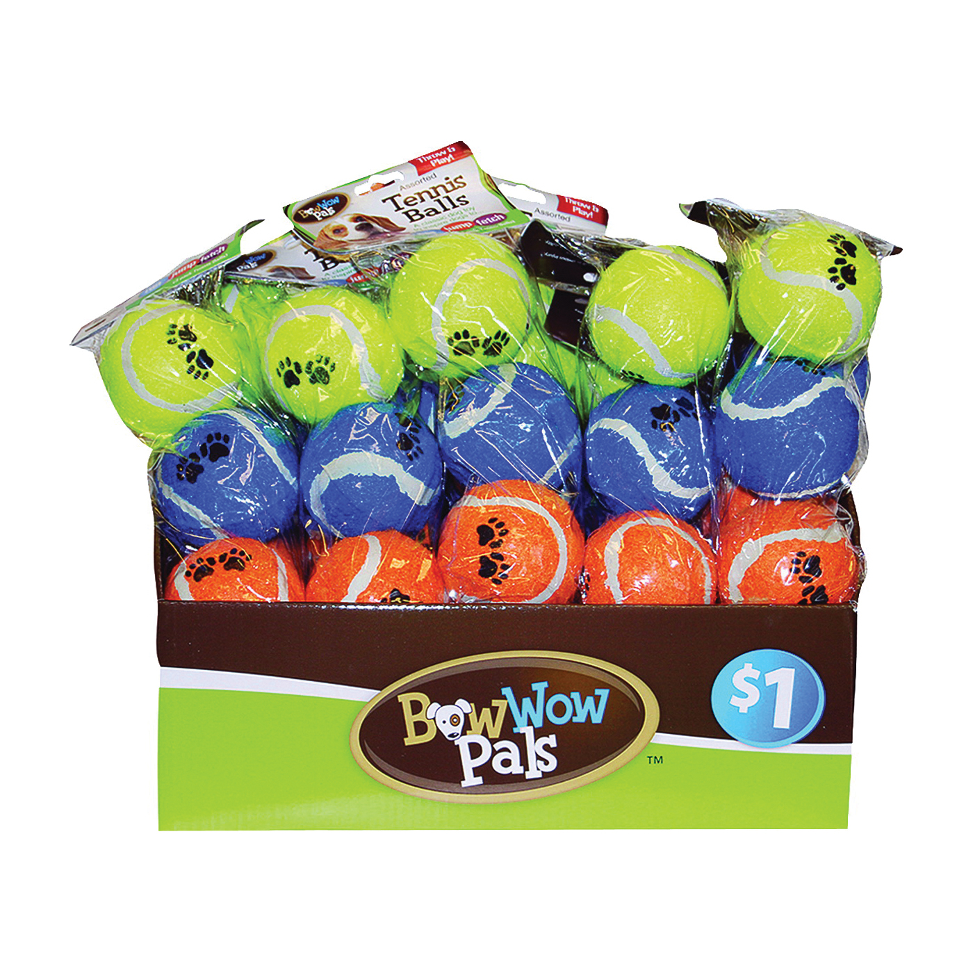 Picture of Bow Wow Pals 8828 Tennis Ball, Assorted