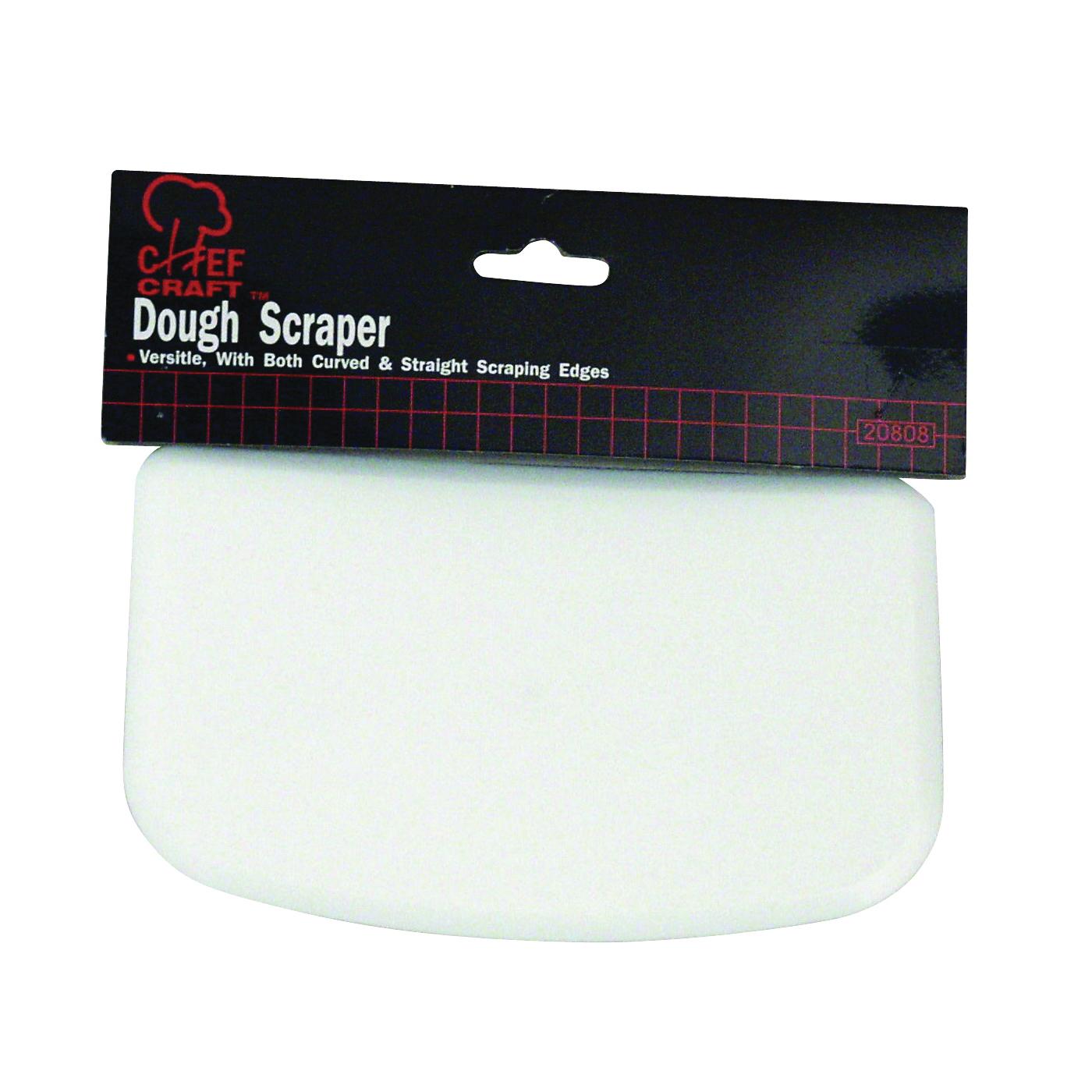 Picture of CHEF CRAFT 20808 Dough Scraper, 6 in L, 4 in W, Plastic, White
