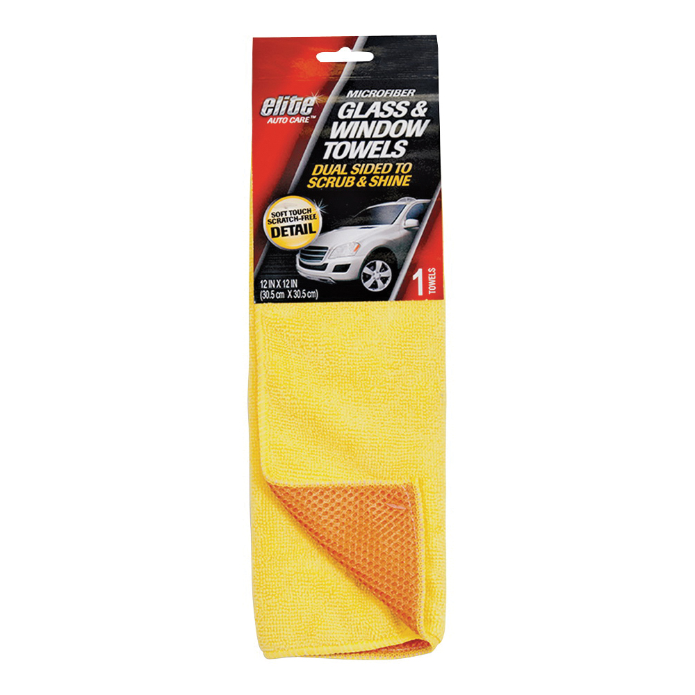 Picture of FLP 8903 Glass and Windshield Towel, 12 x 12 in Capacity, Yellow