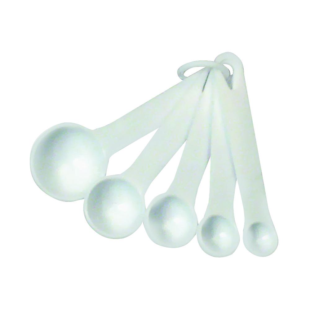 Picture of CHEF CRAFT 20434 Measuring Spoon Set, Metric Graduation, Plastic, White
