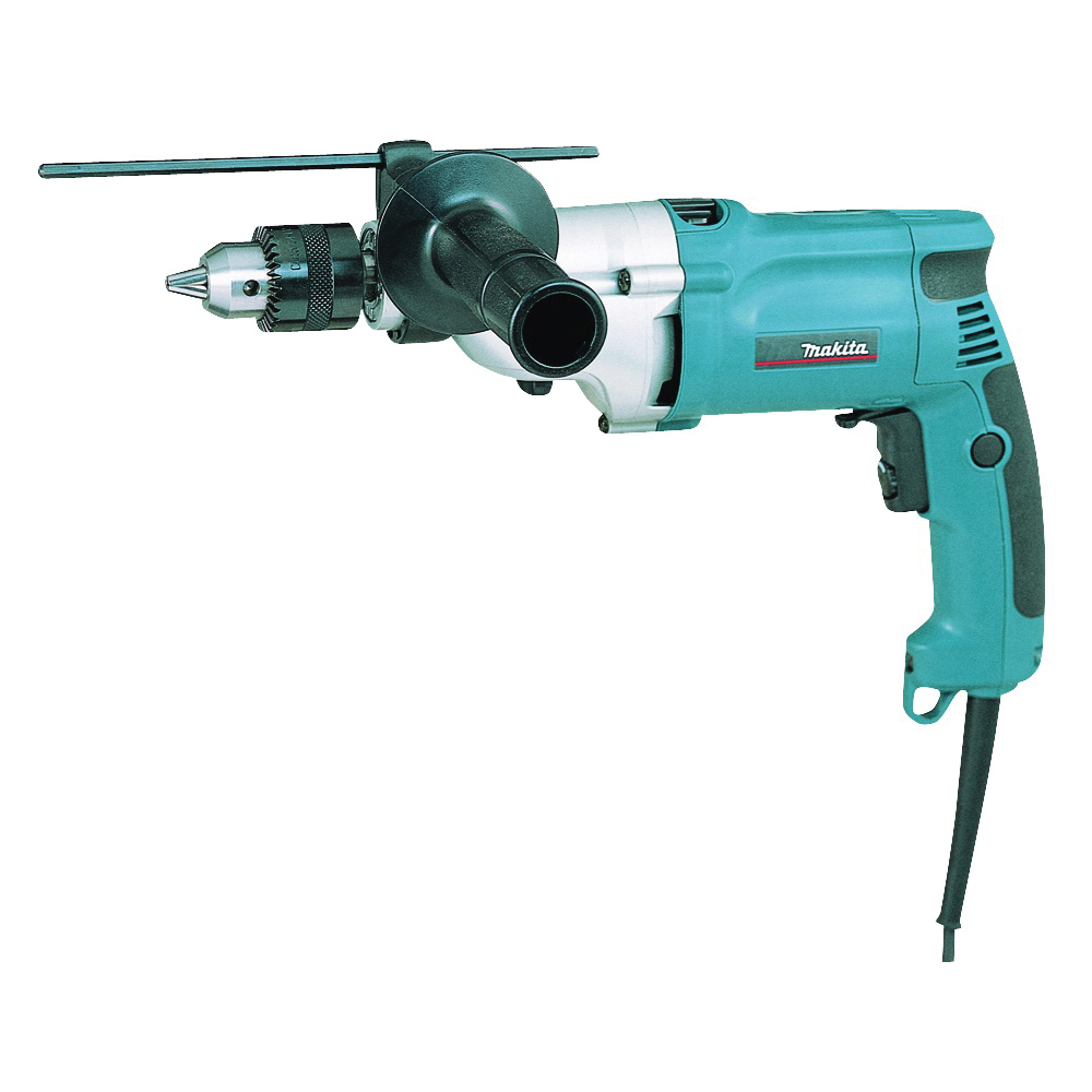 Picture of Makita HP2050F Hammer Drill with LED Light, 120 V, 6.6 A, 3/4 in Concrete, 5/16 in Steel, 1-9/16 in Wood Drilling