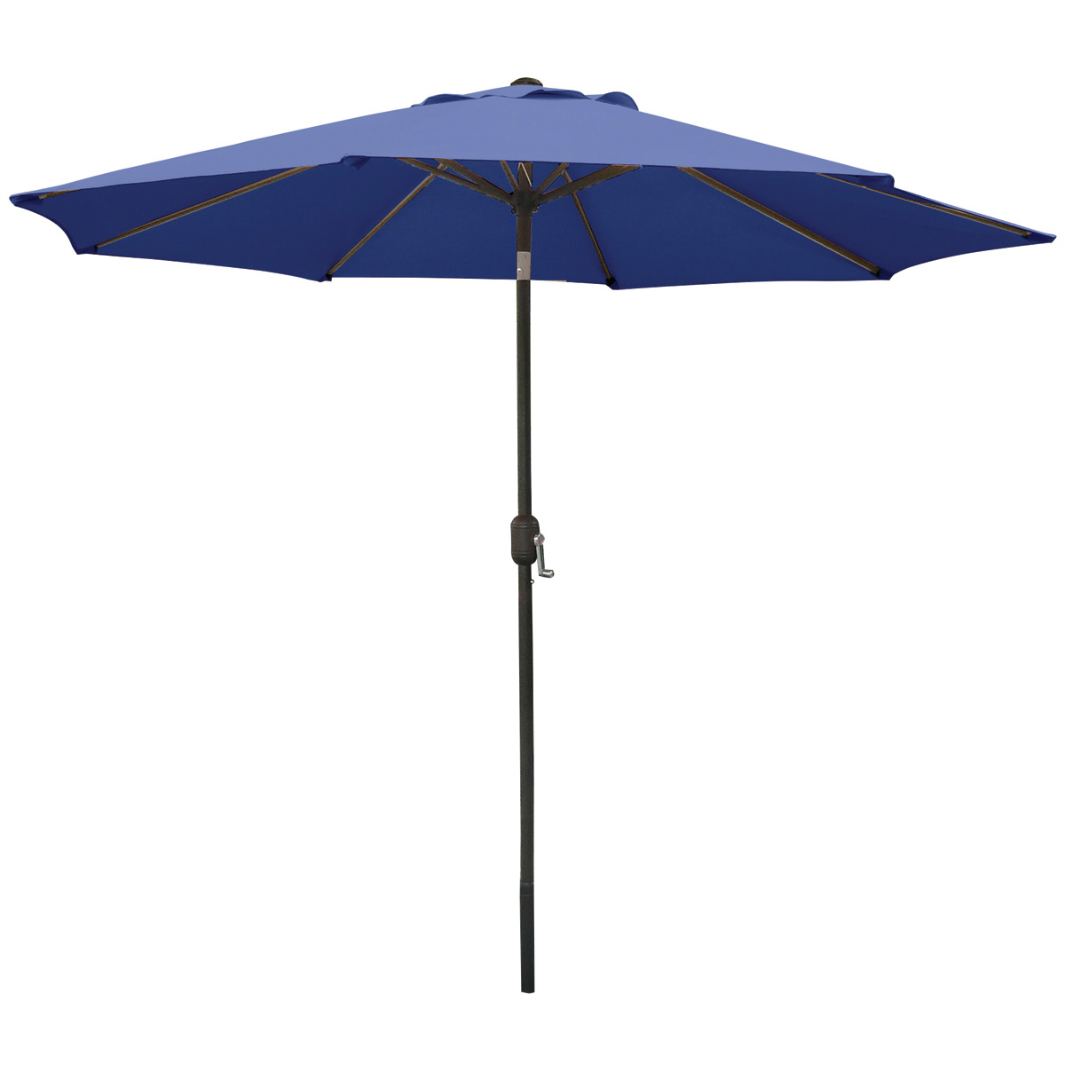 Picture of Seasonal Trends 60033 Crank Umbrella, 92.9 in H, 107.9 in W Canopy, 107.9 in L Canopy, Round Canopy, Steel Frame