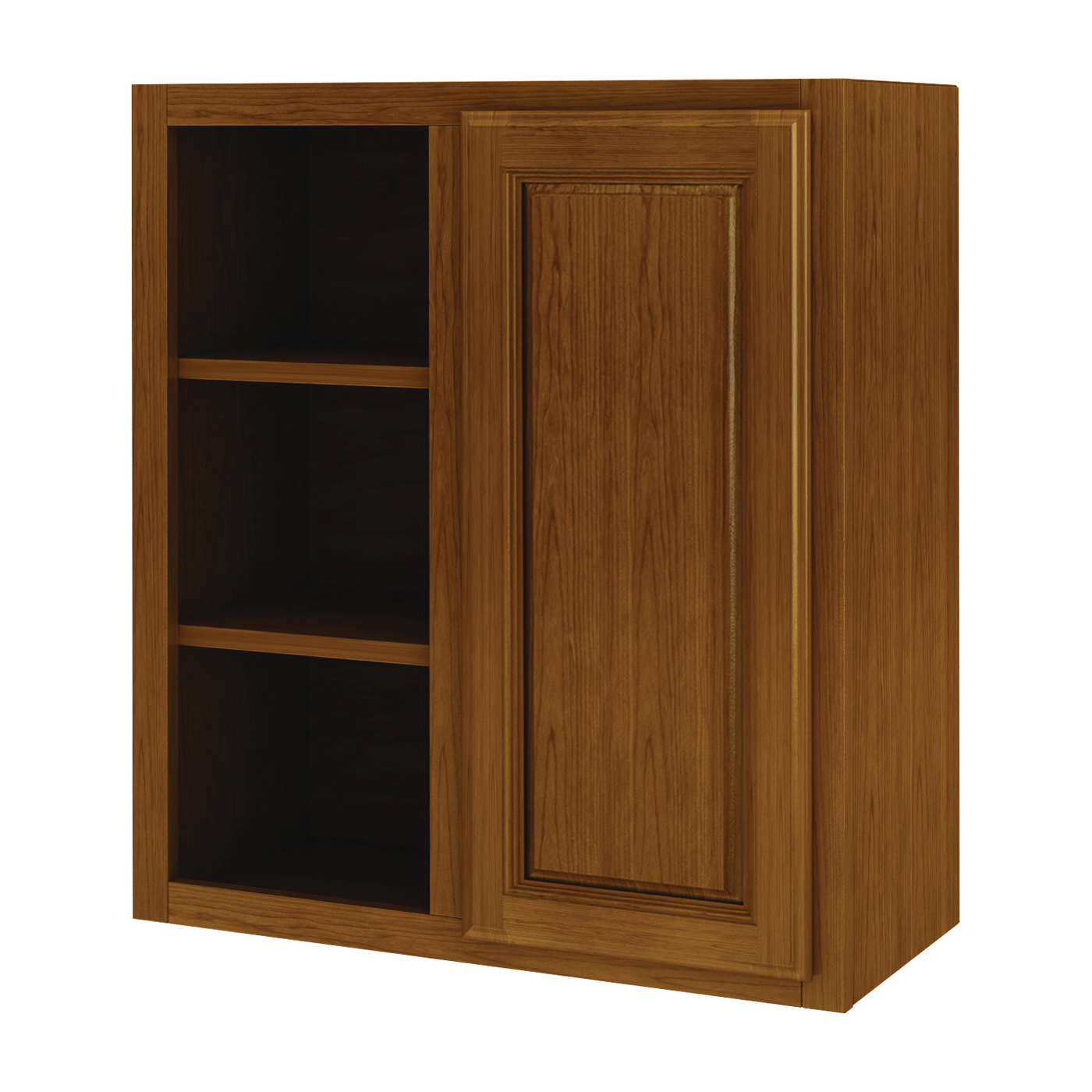 Picture of Sunco Randolph WB2730RT/A Kitchen Cabinet, 27 in OAW, 12 in OAD, 30 in OAH, Wood, Amber, 2-Shelf
