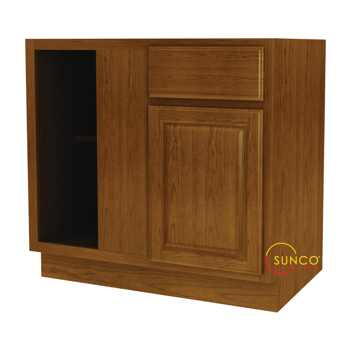 Picture of Sunco Randolph BBC42RT Kitchen Cabinet, 45 in OAW, 36 in OAD, Wood, Amber, 1-Drawer, 1-Shelf, Assembled