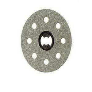 Picture of DREMEL EZ Lock EZ545 Cutting Wheel, 1-1/2 in Dia, 0.023 in Thick, 1/8 in Arbor, Diamond Abrasive