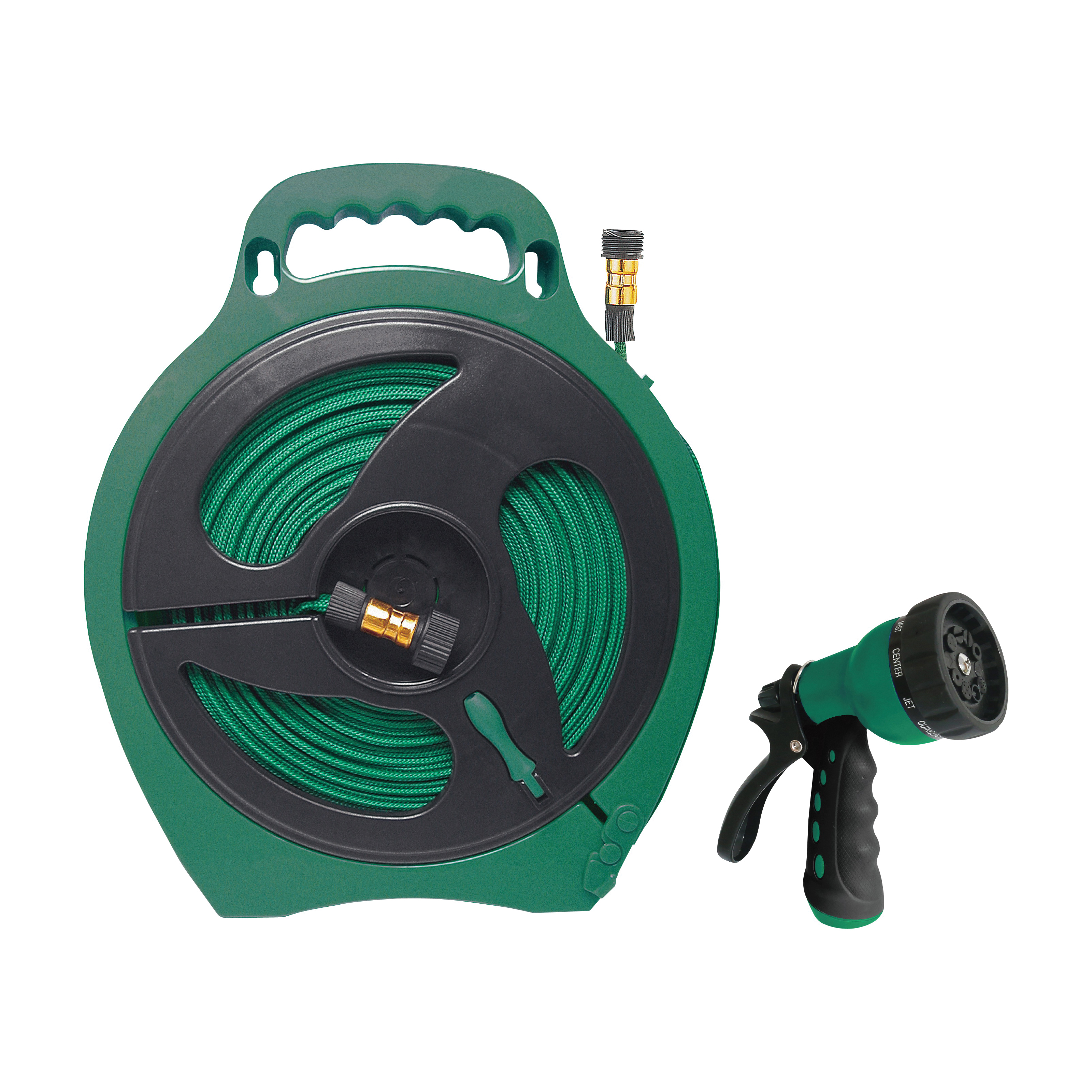 Picture of Landscapers Select YP1121 Hose Set, 50 ft L Hose, 50 ft Hose, In a Storage Case Winding, Built-In Handle, Polyester
