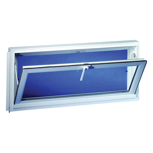 Picture of Duo-Corp Competitor 3214COMP Hopper Basement Window, Insulated Glass Glass/Screen, Vinyl Frame