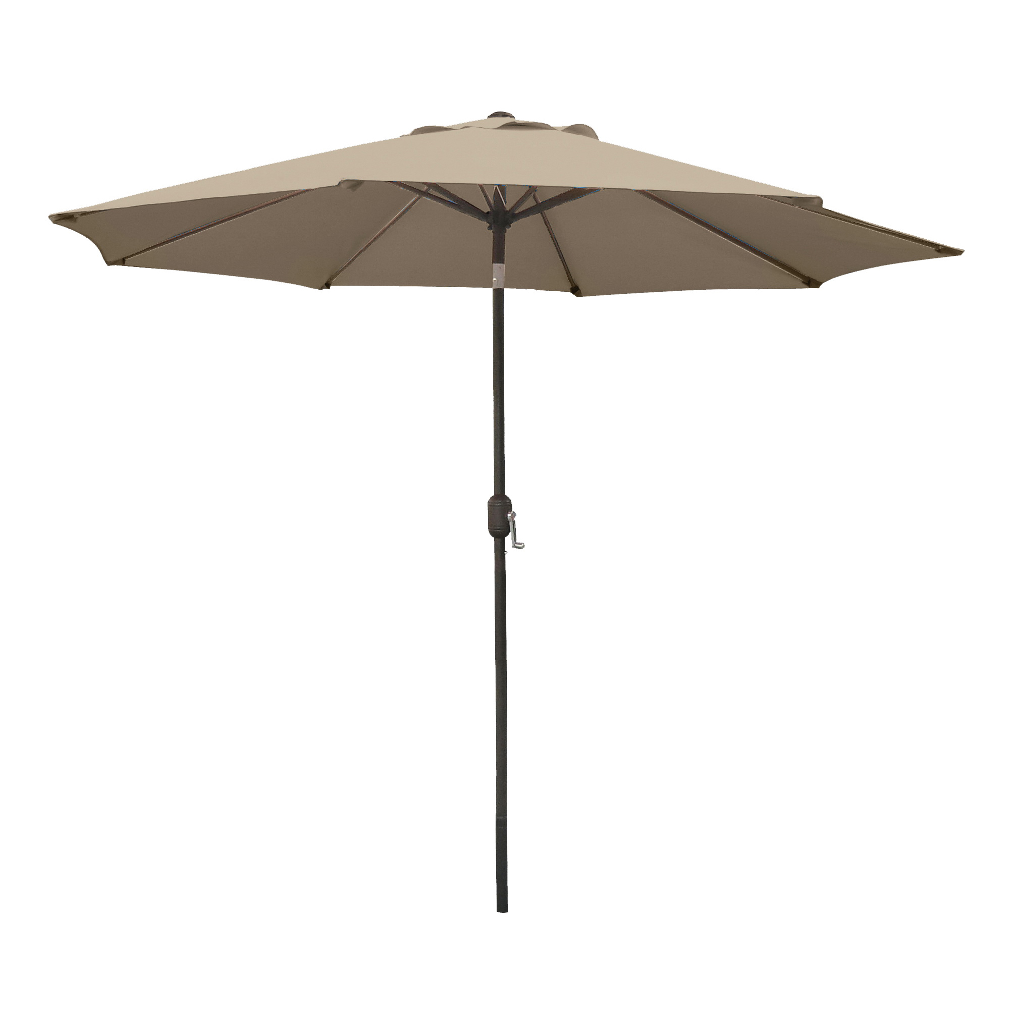 Picture of Seasonal Trends 60036 Crank Umbrella, 92.9 in H, 107.9 in W Canopy, 107.9 in L Canopy, Round Canopy, Steel Frame