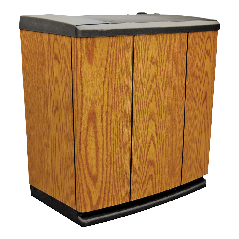 Picture of AIRCARE H12 300HB Console Humidifier, 120 V, 4-Speed, 3700 sq-ft Coverage Area, Analog Control, Light Oak