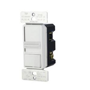 Picture of Eaton Wiring Devices SAL06P-LA-K Slide Dimmer, 120 V, 300 W, CFL, Halogen, Incandescent, LED Lamp, 3-Way