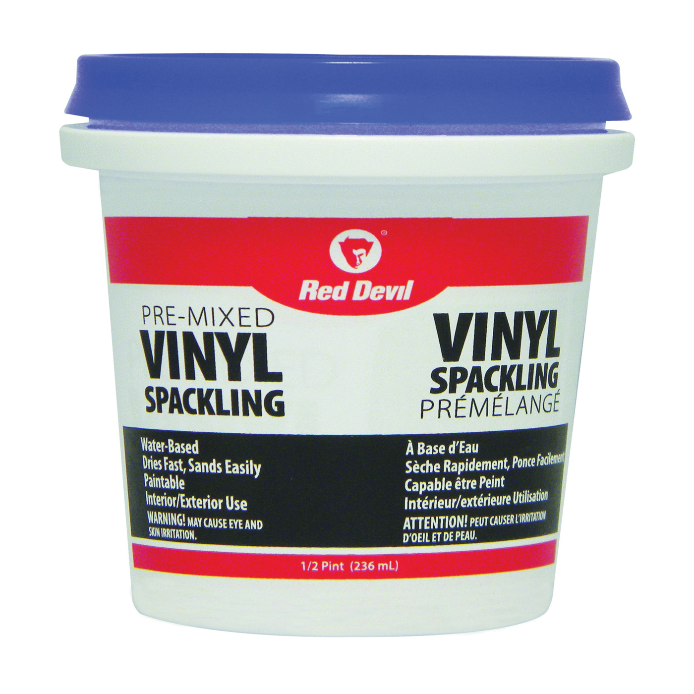 Picture of Red Devil 00124CA Spackling Compound Off-White, Off-White, 0.5 pt, Tub