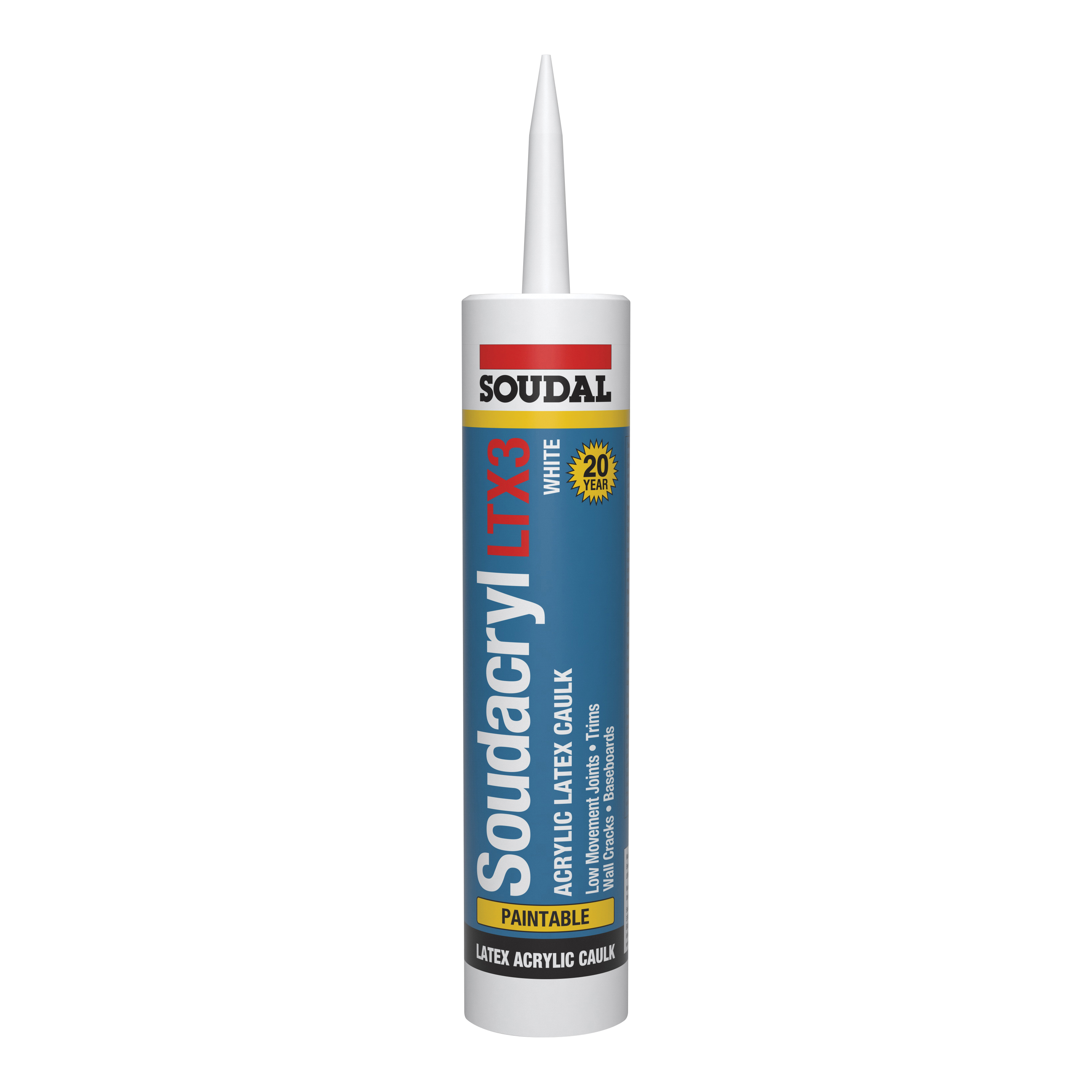 Picture of Soudal 5823513 Acrylic Latex Caulk, 10.1 oz Package