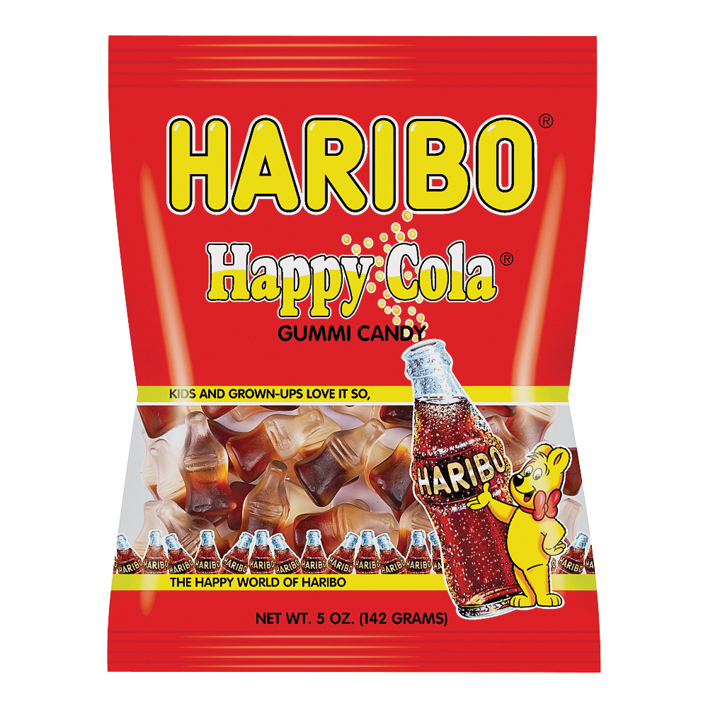 Picture of Haribo HHCB12 Jelly Candy, Cola Flavor, 5 oz Package, Bag