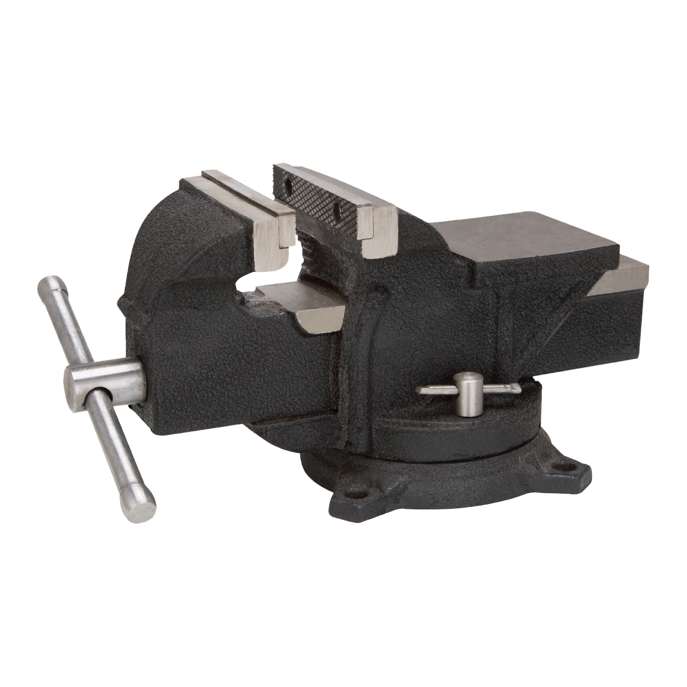 Picture of Vulcan JL25012 Bench Vise, 5 in Jaw Opening, Iron/Steel, Serrated Jaw