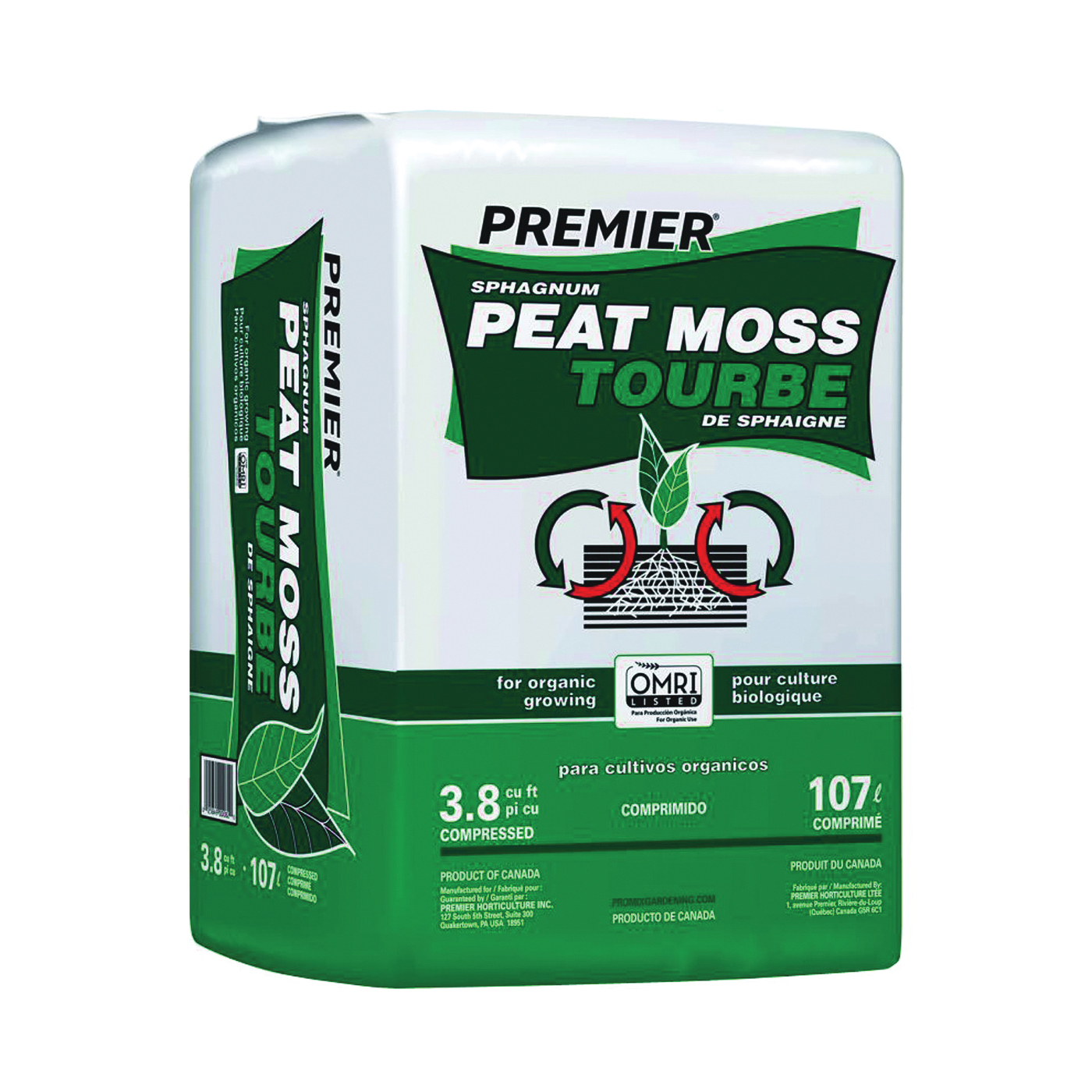 Picture of Premier 0082P Peat Moss, 3.8 cu-ft Package, Bale