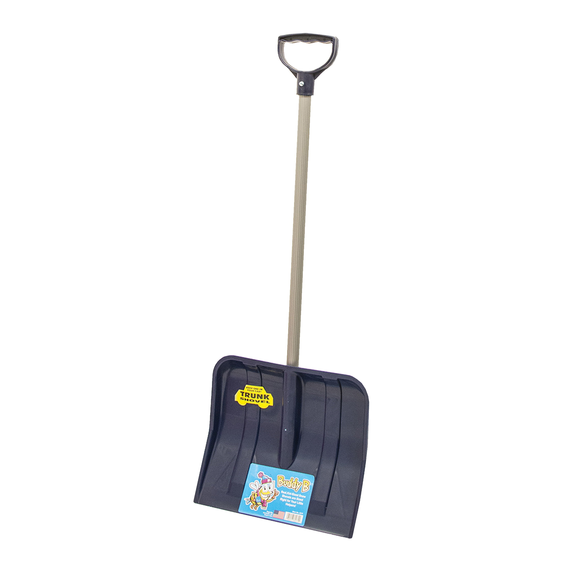 Picture of RUGG BUDDY B 227P Kids Shovel, 12 in W Blade, 10 in L Blade, Polyethylene Blade, Steel Handle, 34 in OAL, Blue