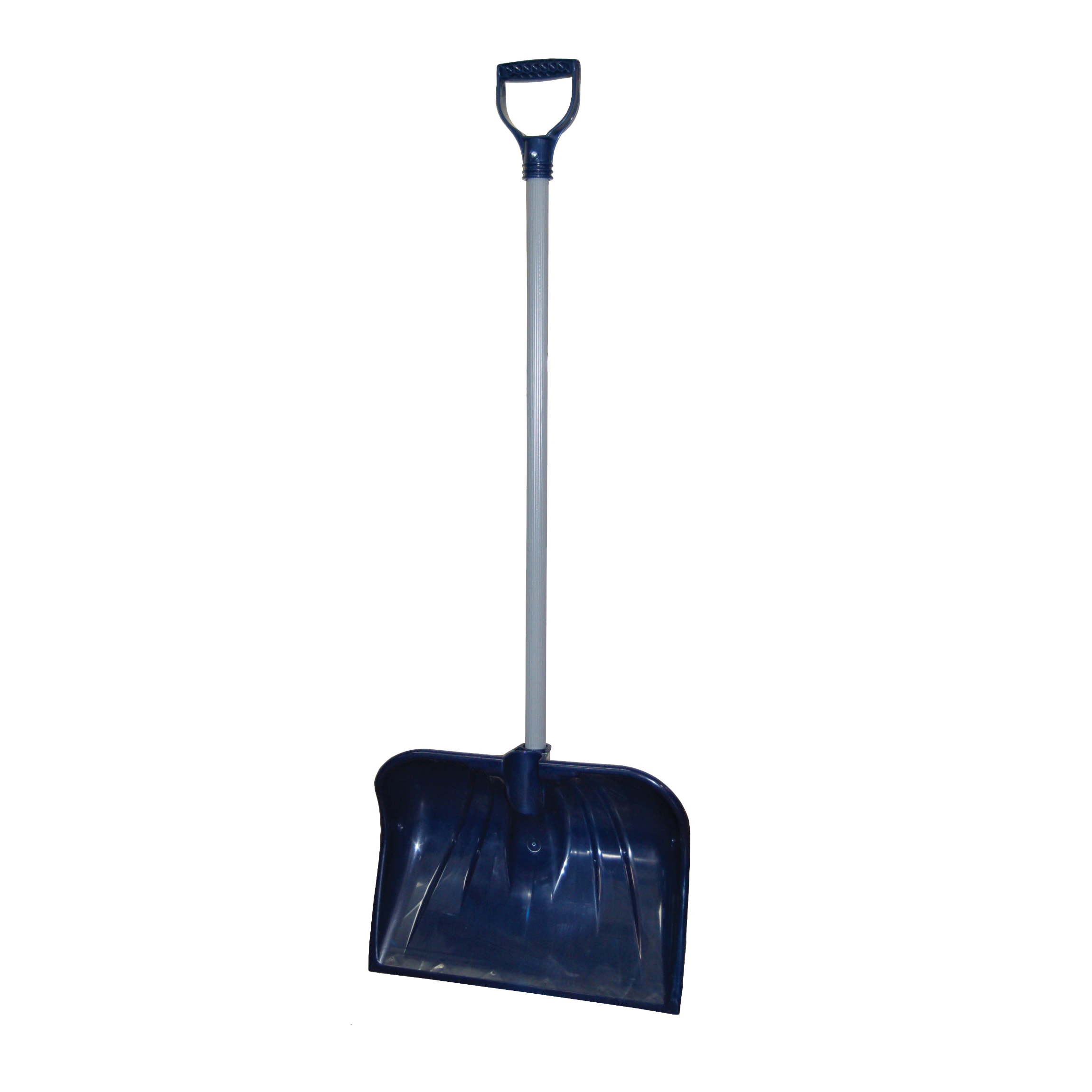 Picture of RUGG 26PDX-S Snow Shovel, 18 in W Blade, Combo Blade, Polyethylene Blade, Steel Handle, Navy