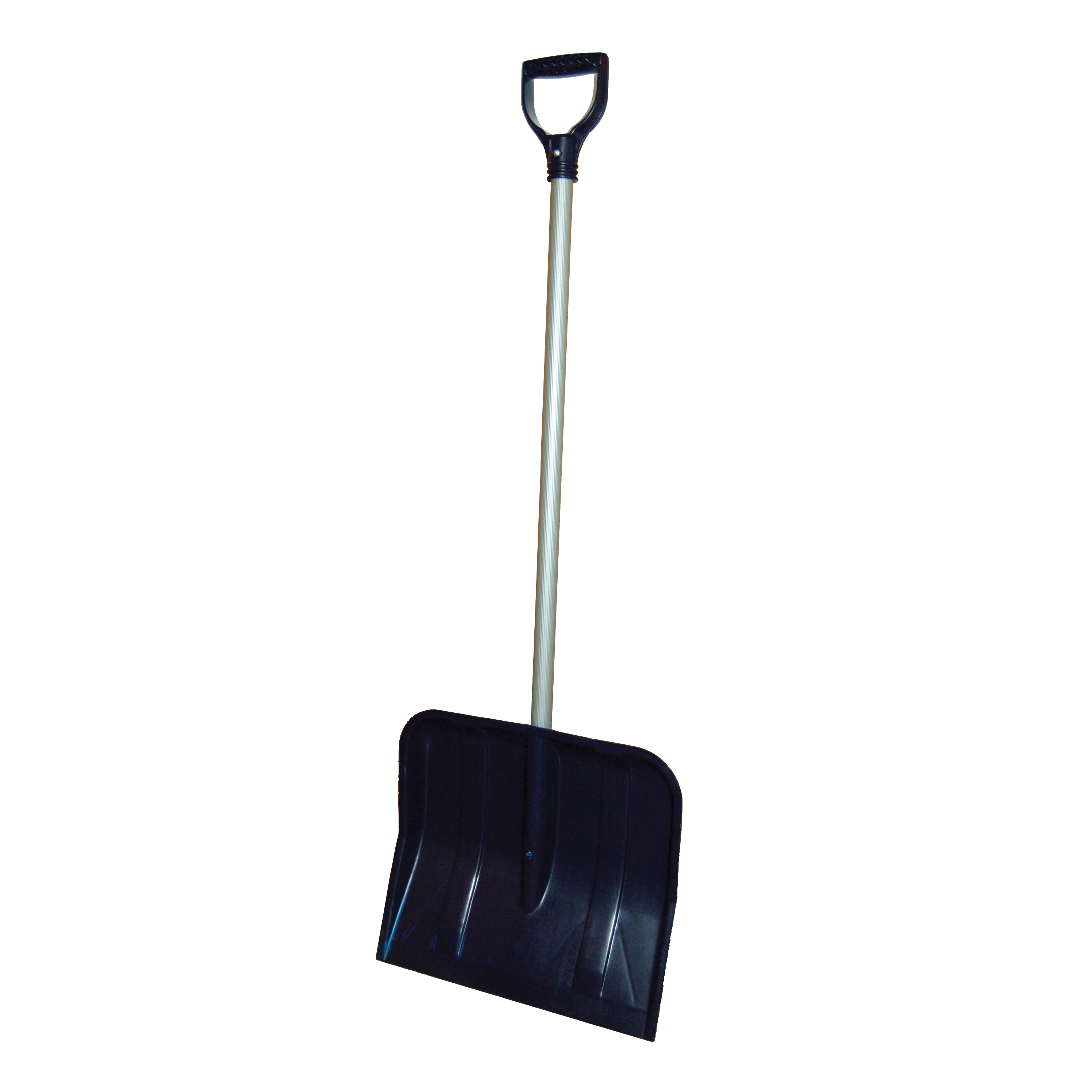 Picture of RUGG 27P-BG Snow Shovel, 18 in W Blade, Standard Blade, Polyethylene Blade, Steel Handle, Navy