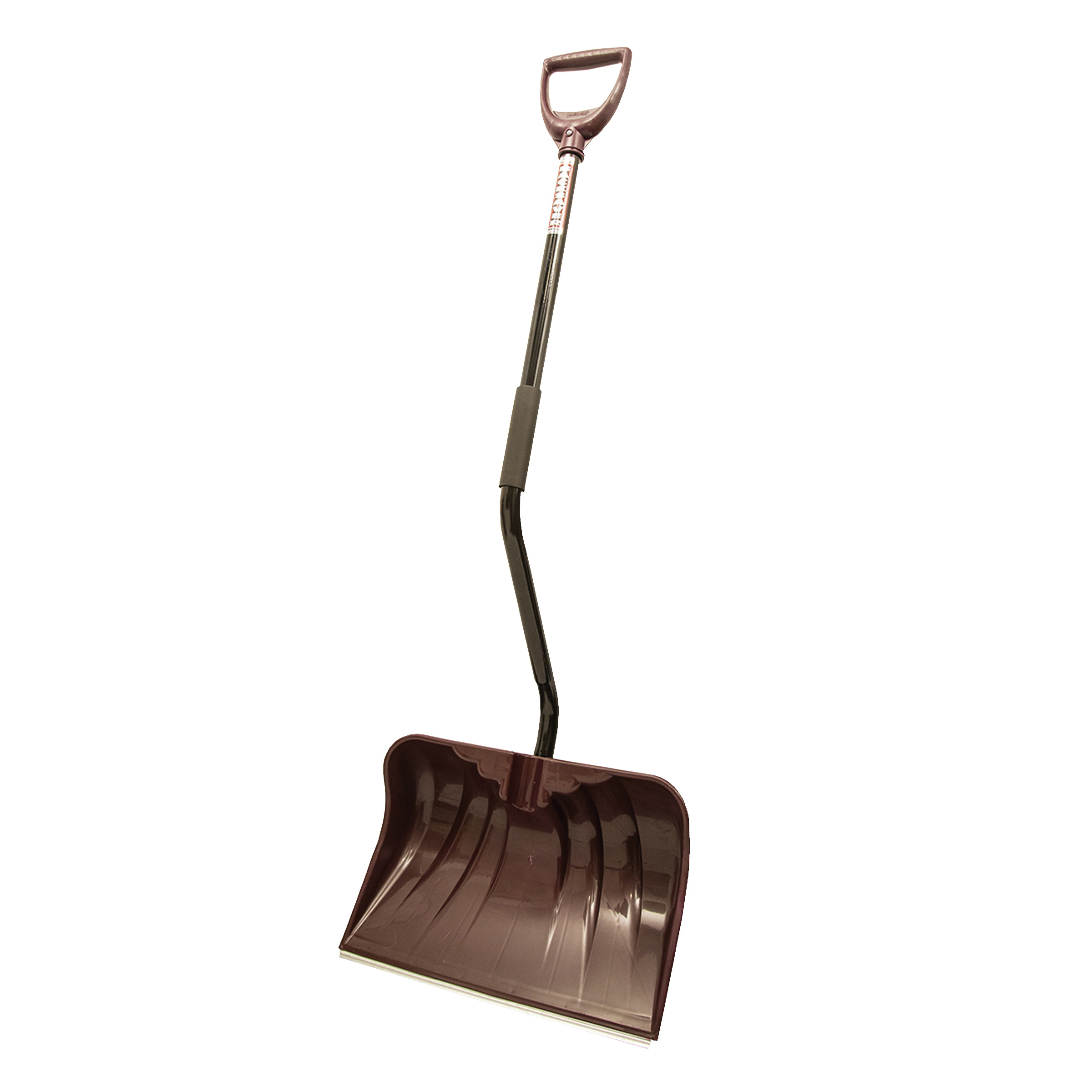 Picture of RUGG 36PBSW-S Snow Shovel, 20 in W Blade, Combo Blade, Polyethylene Blade, Steel Handle, Merlot