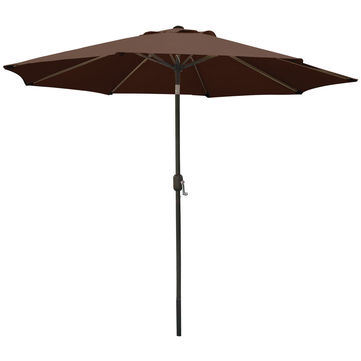 Picture of Seasonal Trends 60037 Crank Umbrella, 92.9 in H, 107.9 in W Canopy, 107.9 in L Canopy, Round Canopy, Steel Frame