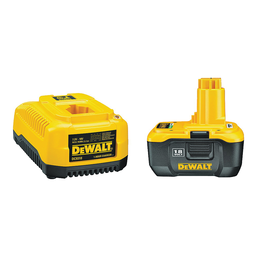 Picture of DeWALT DC9182C Battery and Charger Kit, 18 V Battery, 2 Ah