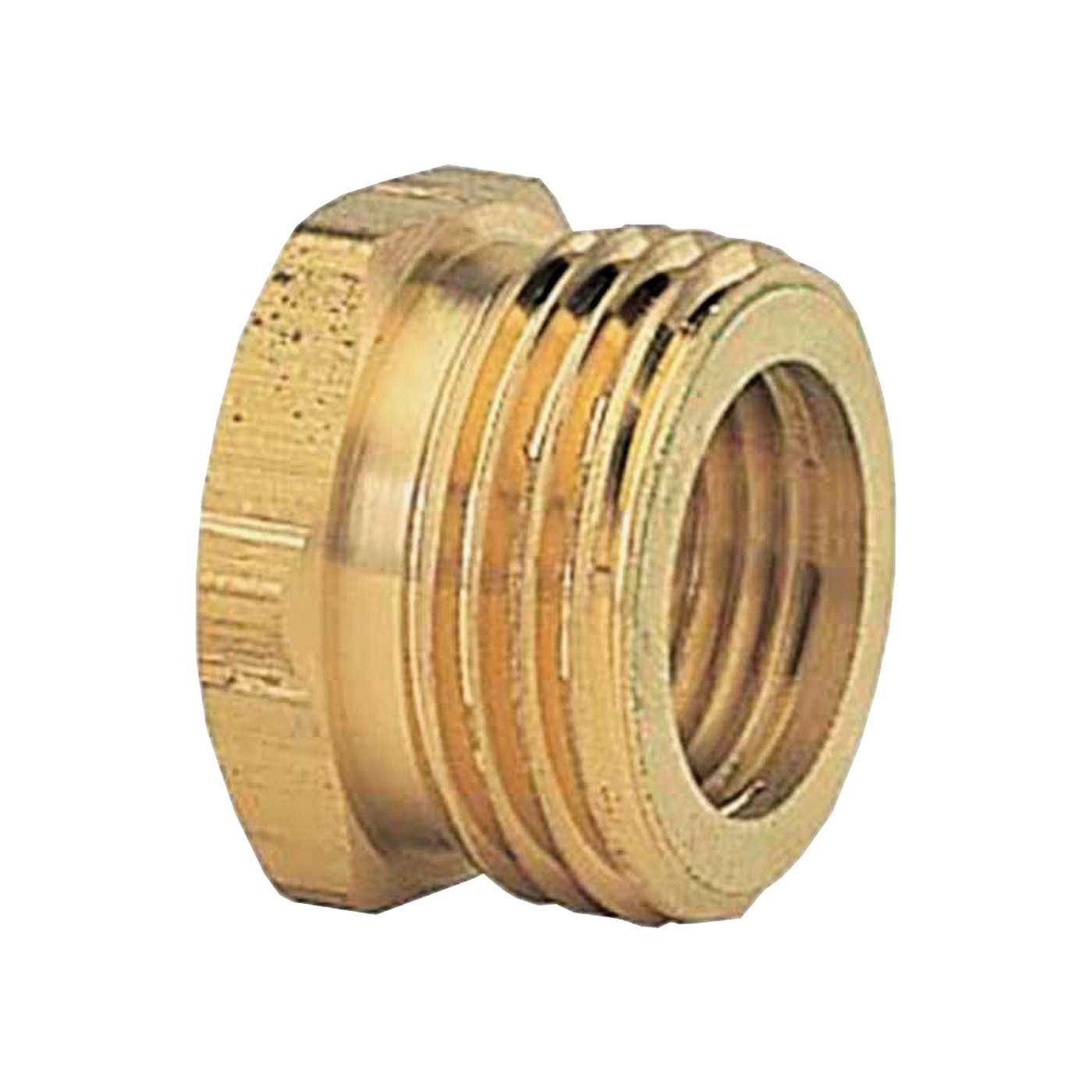 Picture of Gilmour 800774-1001 Hose Adapter, 3/4 x 3/4 in, MNPT x FNH, Brass, For: Garden Hose