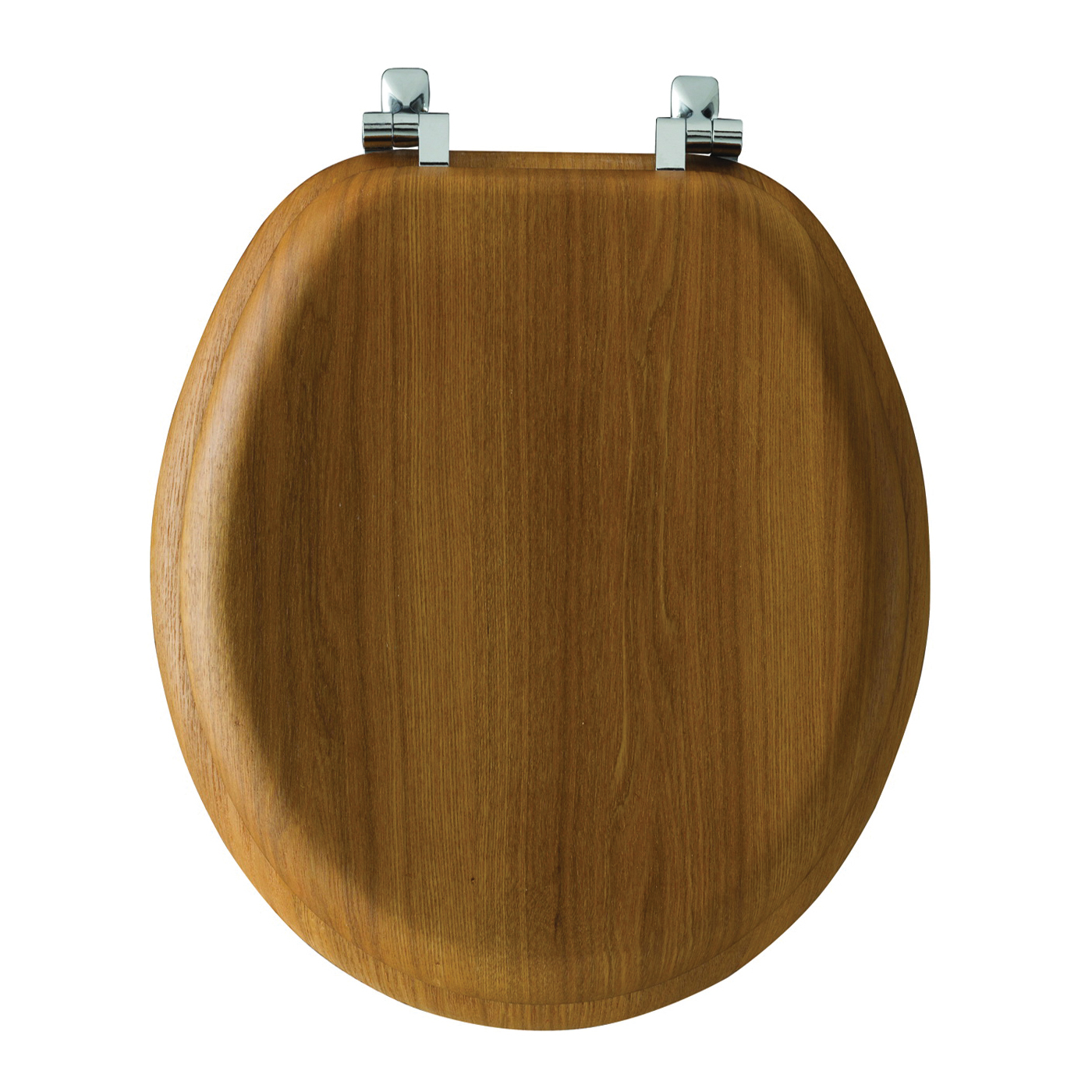Picture of BEMIS Natural Reflections 19601CP378 Toilet Seat, Elongated, Wood Veneer, Natural Oak