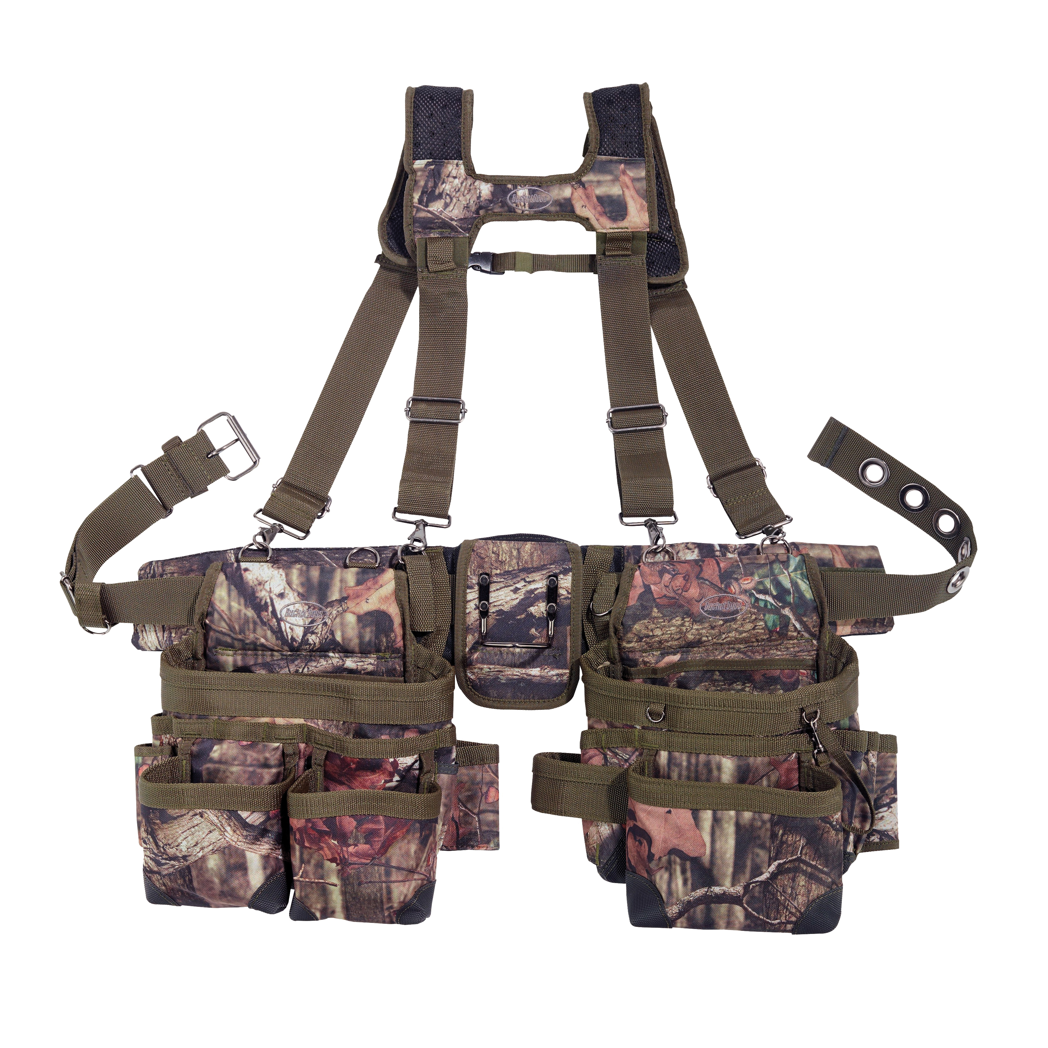 Picture of Bucket Boss 85035 Suspension Rig, 52 in Waist, Fabric, Mossy Oak, 28 -Pocket