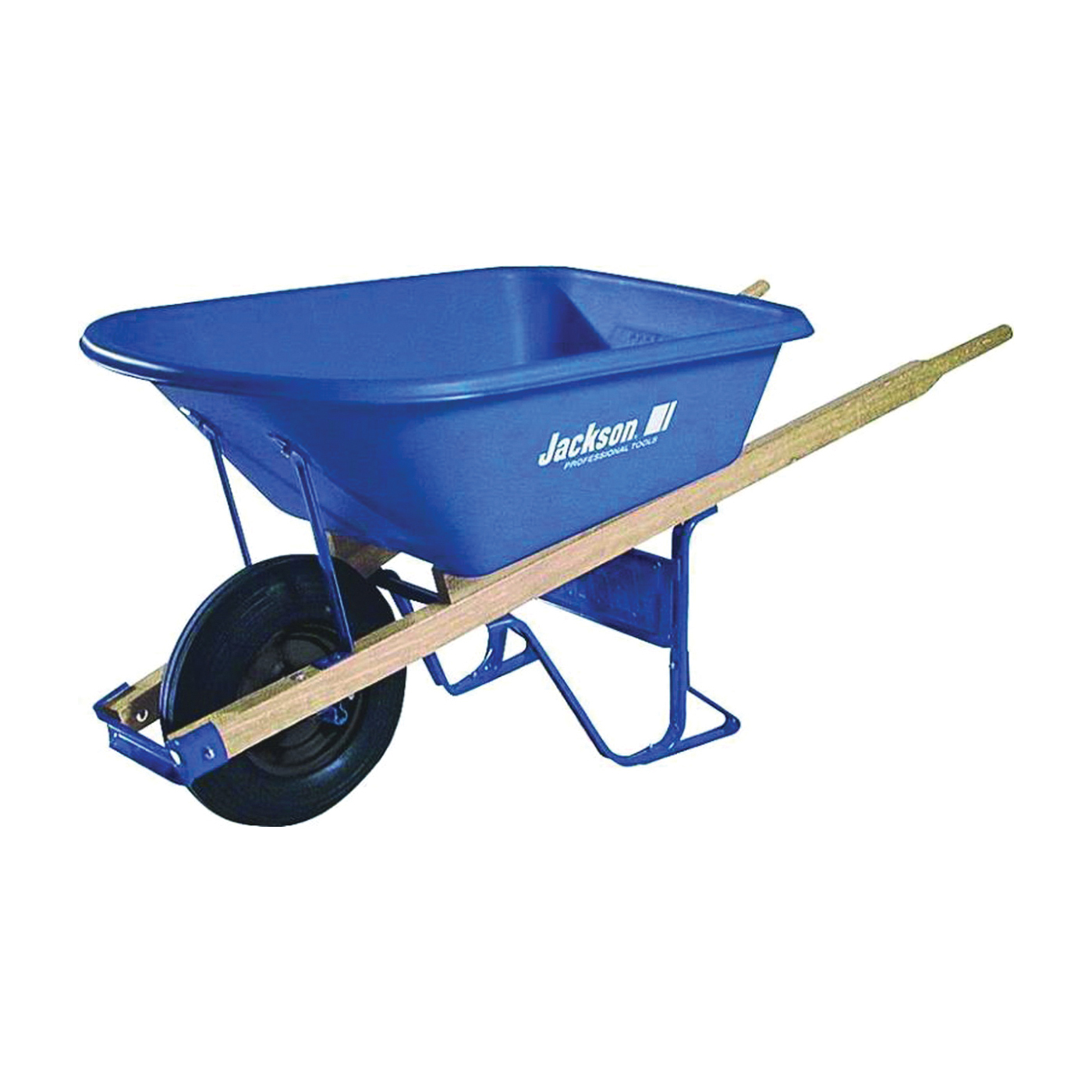 Picture of JACKSON MP57514 Contractor Wheelbarrow, 5-3/4 cu-ft Volume, Poly, 1 -Wheel