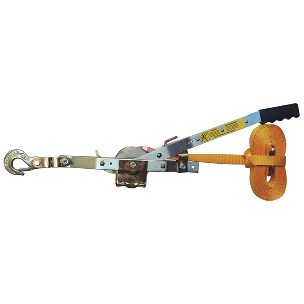 Picture of Maasdam WS-25 Strap Puller, 1 ton Lifting, 1 in Dia Rope/Cable, 25 ft L Rope/Cable, 10 ft Lift