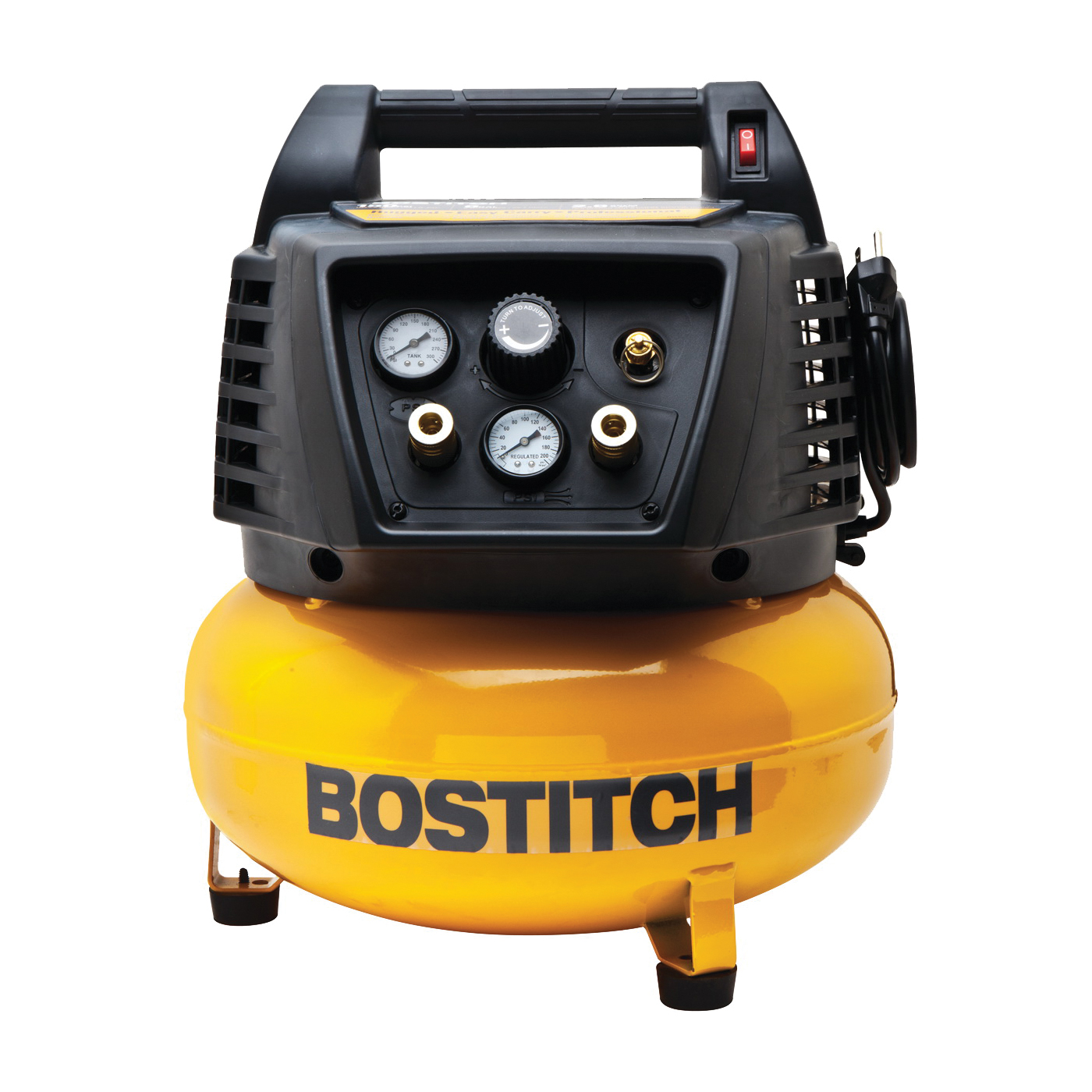 Picture of Bostitch BTFP02012 Air Compressor, 6 gal Tank, 120 V, 90 psi Pressure, 3.7 scfm Air