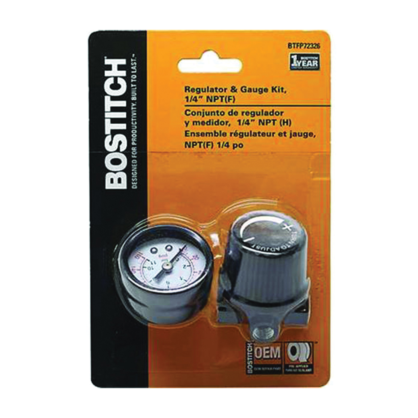 Picture of Bostitch BTFP72326 Regulator and Gauge Kit, Mini