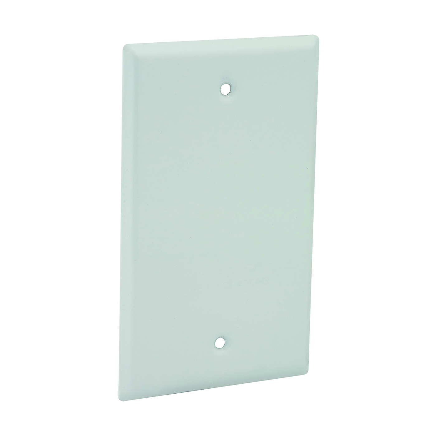 Picture of HUBBELL 5173-1 Cover, 4-17/32 in L, 2-25/32 in W, Metal, White, Powder-Coated