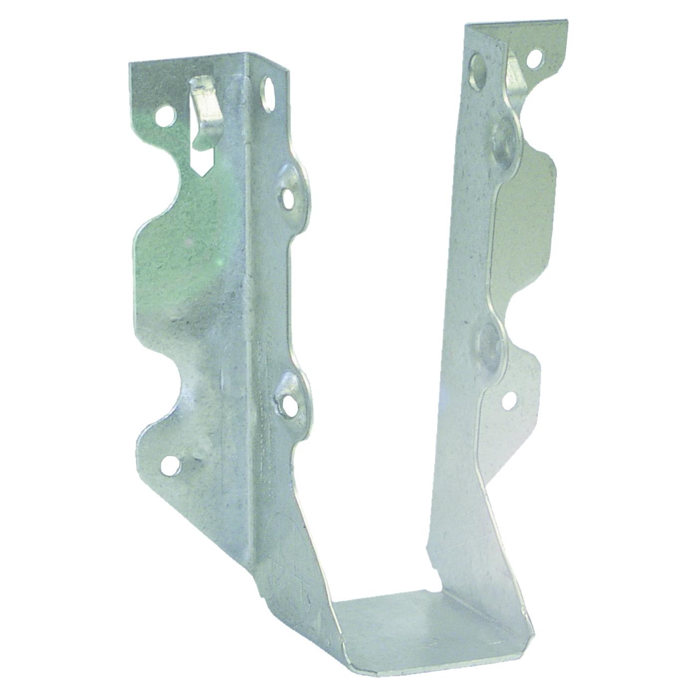 Picture of MiTek JUS26-TZ Slant Joist Hanger, 4-13/16 in H, 1-3/4 in D, 1-9/16 in W, 2 in x 6 to 8 in, Steel, Zinc