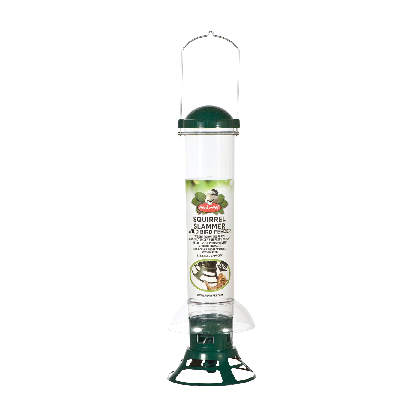 Picture of Perky-Pet 5141-2 Wild Bird Feeder, 18-7/64 in H, 3.5 lb, Metal, Clear, Hanging Mounting