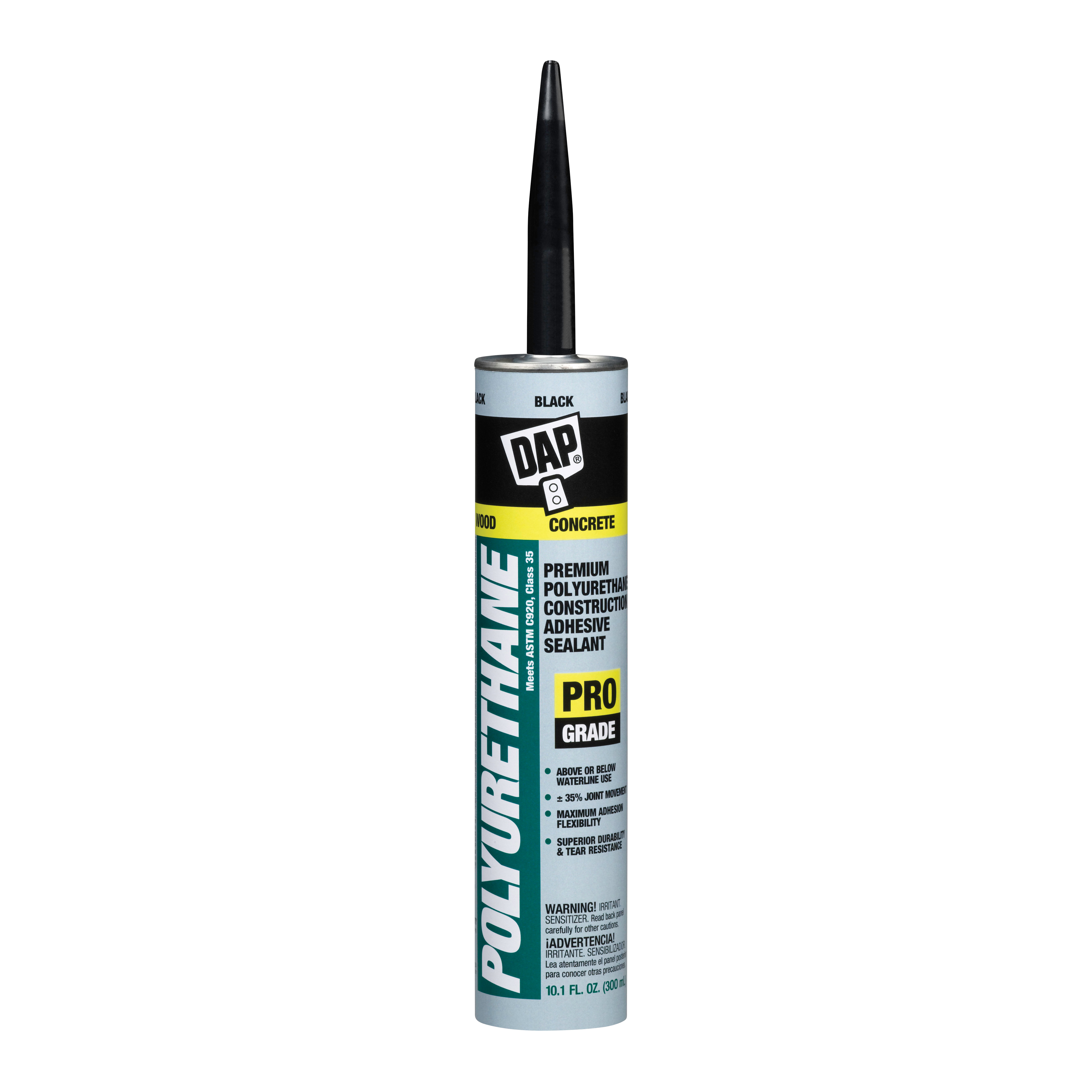 Picture of DAP 18816 Sealant, Black, 4 to 7 Days Curing, 10.1 fl-oz Package, Cartridge