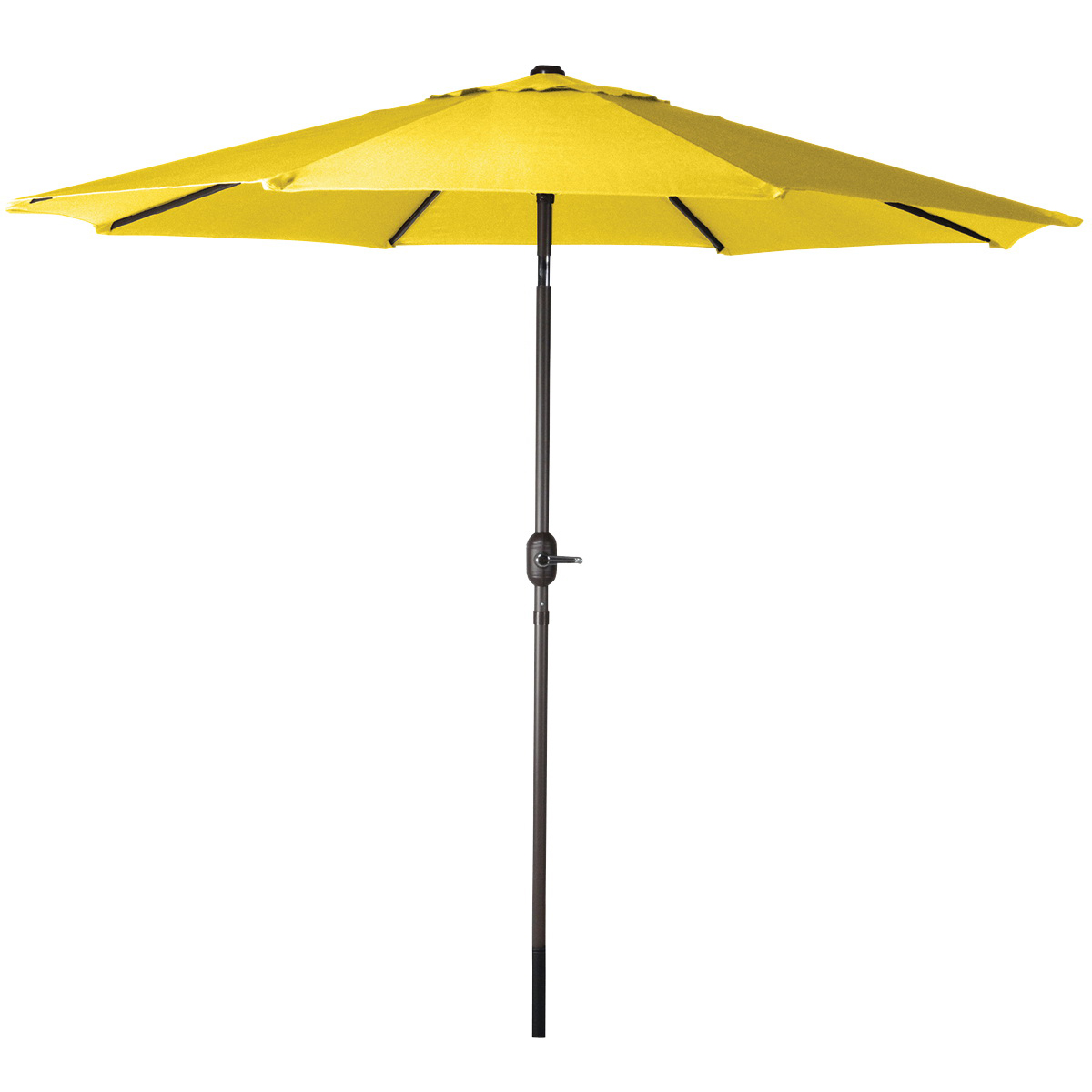 Picture of Seasonal Trends 60038 Crank Umbrella, 92.9 in H, 107.9 in W Canopy, 107.9 in L Canopy, Round Canopy, Steel Frame