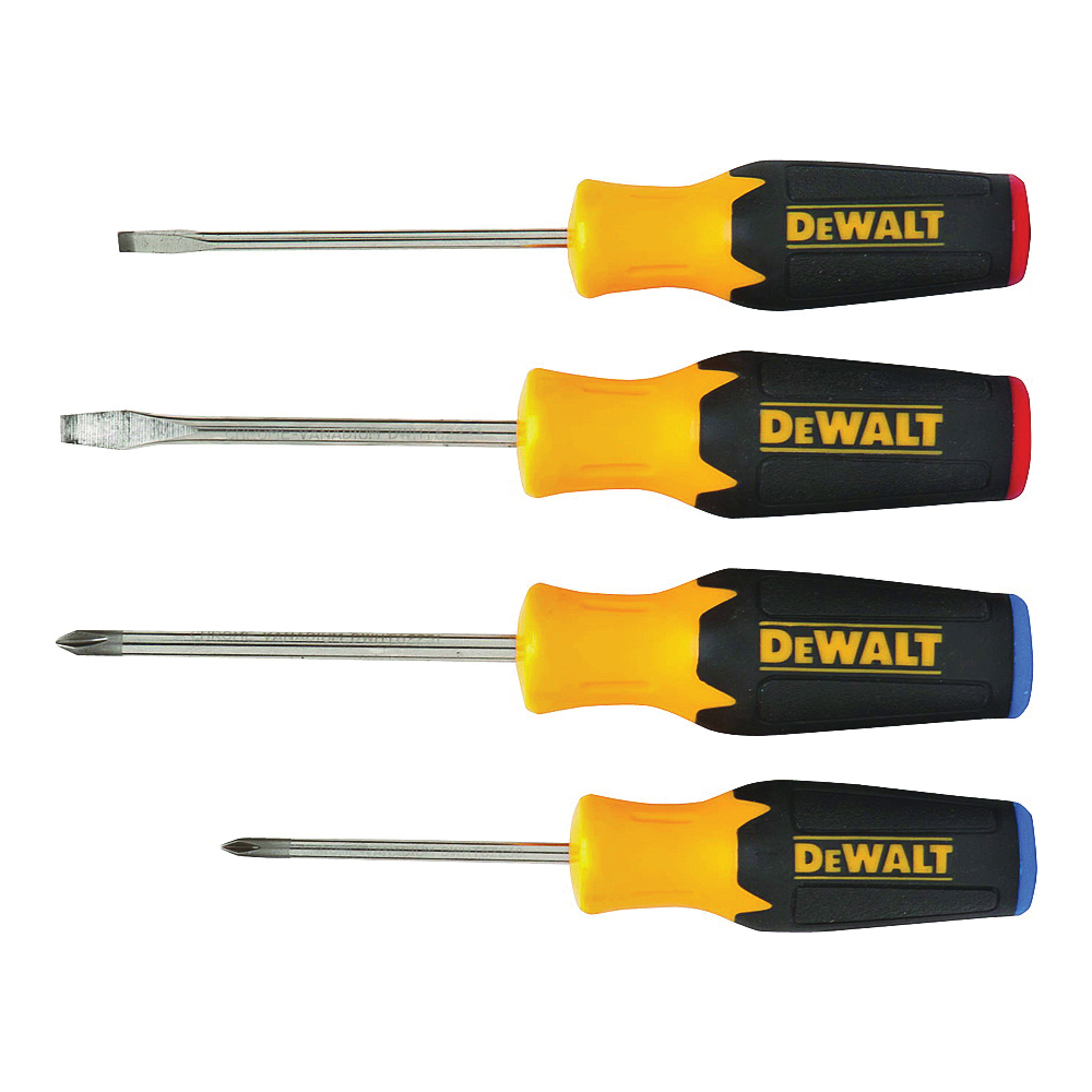 Picture of DeWALT DWHT62512 Screwdriver Set, Black, Specifications: Round Shank