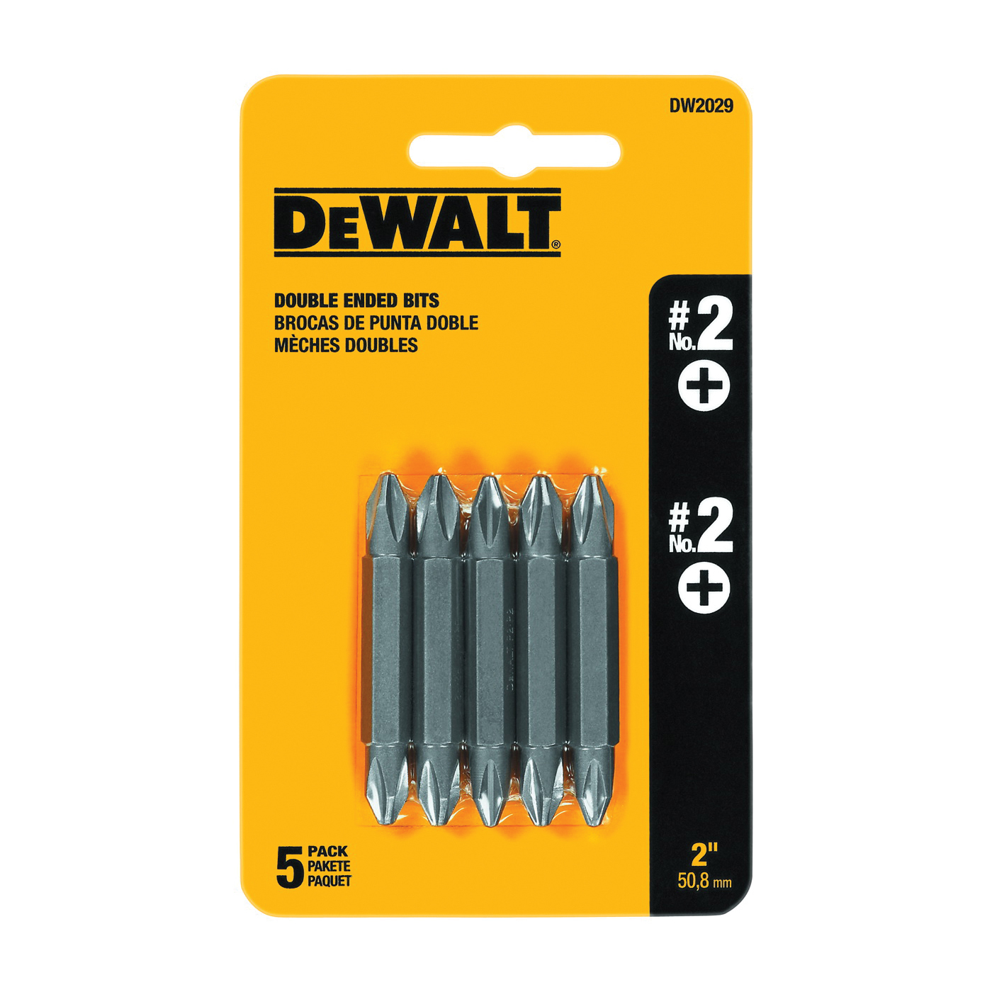 Picture of DeWALT DW2029 Screwdriver Bit, #2 Drive, Phillips Drive, 1/4 in Shank, Hex Shank, 2 in L, Steel