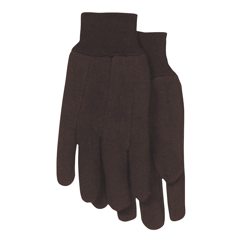 Picture of BOSS 4020-6 Classic Protective Gloves, L, Straight Thumb, Clute-Cut, Knit Wrist Cuff, Polyester, Brown