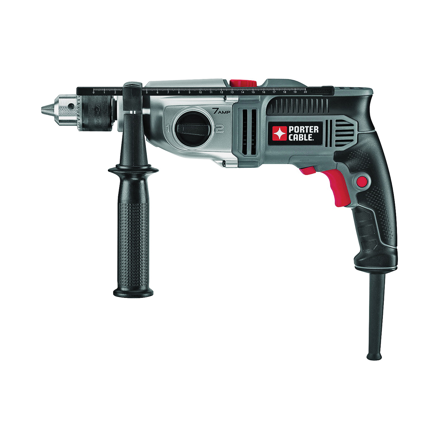 Picture of PORTER-CABLE PC70THD Hammer Drill, 120 V, 7 A, 1/2 in Chuck, Keyless Chuck, 0 to 3100 rpm Speed