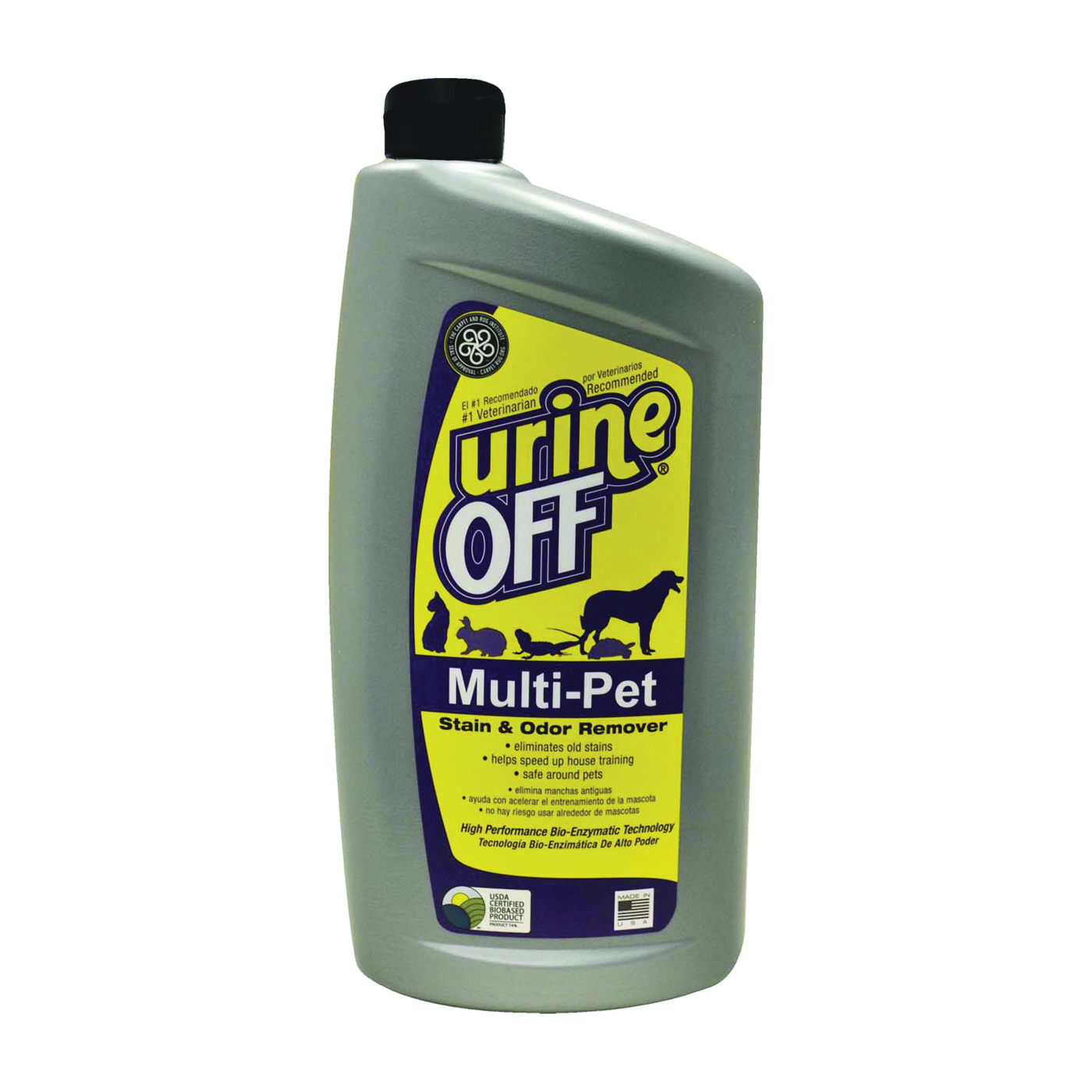 Picture of urine OFF MR1050 Stain Remover, Opaque Liquid, Floral, 32 oz Package, Bottle